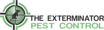 The Exterminator Pest Control Logo